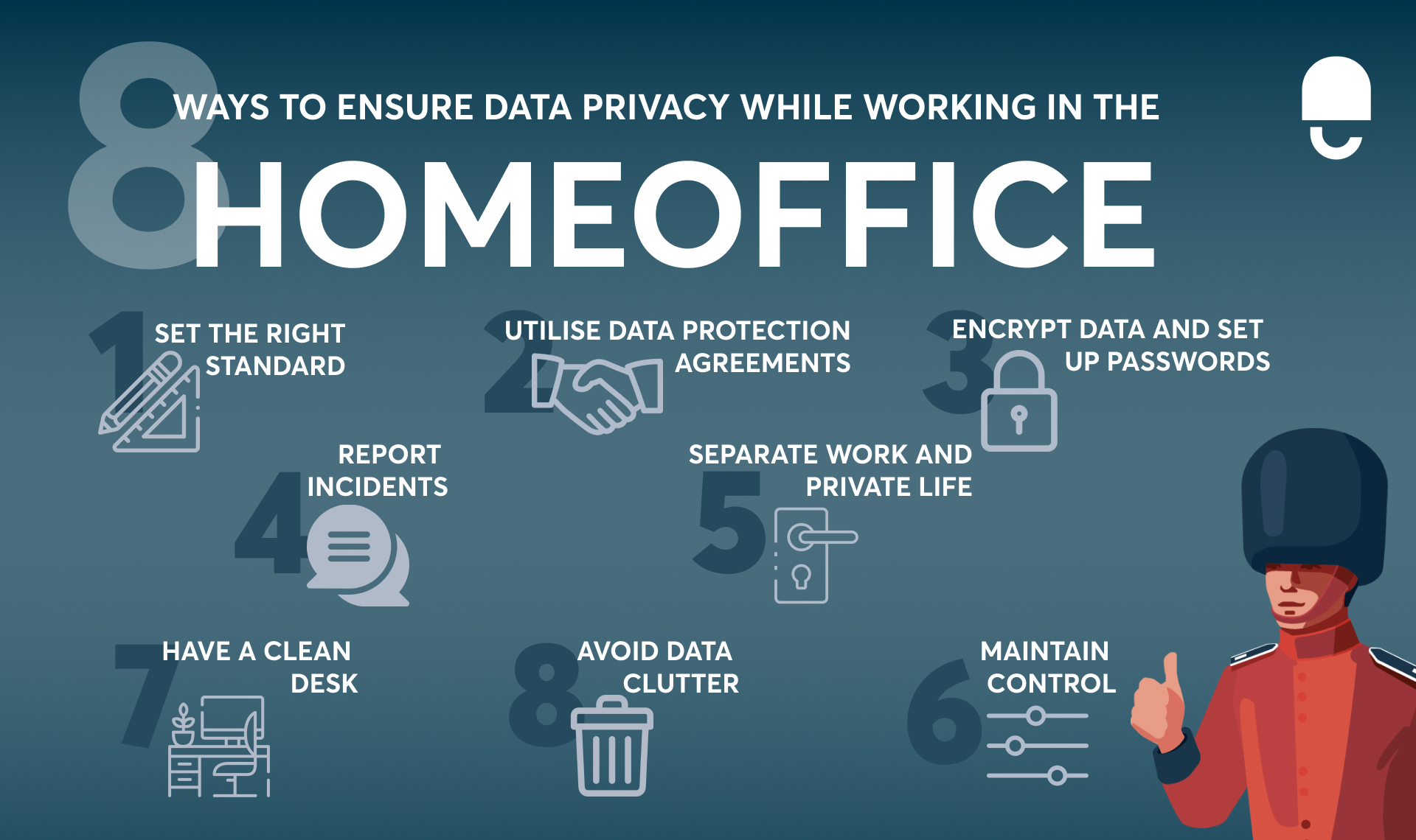 ways to ensure data privacy in the homeoffice